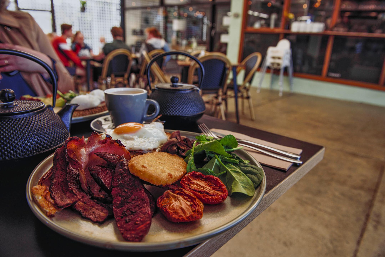 A big breakfast at the Vincent Diner in Glenbrook.