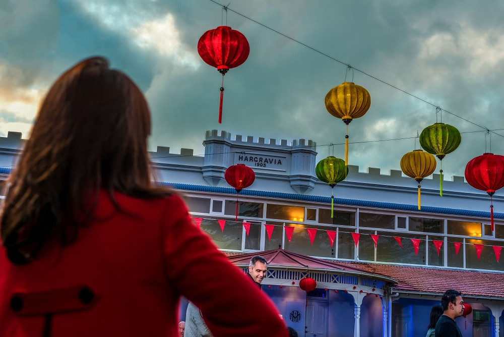 The Hydro Majestic Moon Festival added spring colour to Australia's most famous hotel