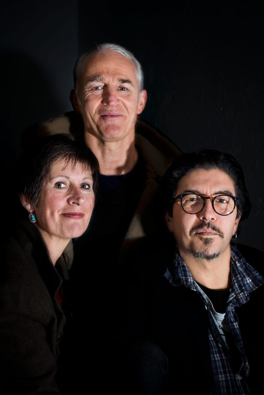 Springwood Art Show judges (l-r) Jane Canfield, Mathew Lynn and Victor Peralta