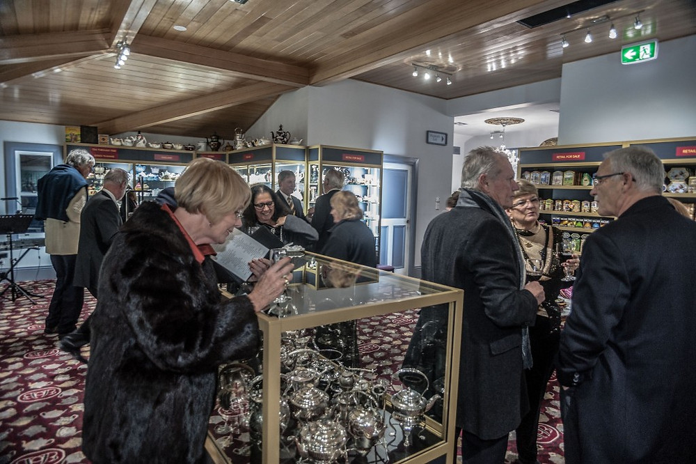 Guests browsing some of the 5000 teapots on display at the renovated Bygone Beautys