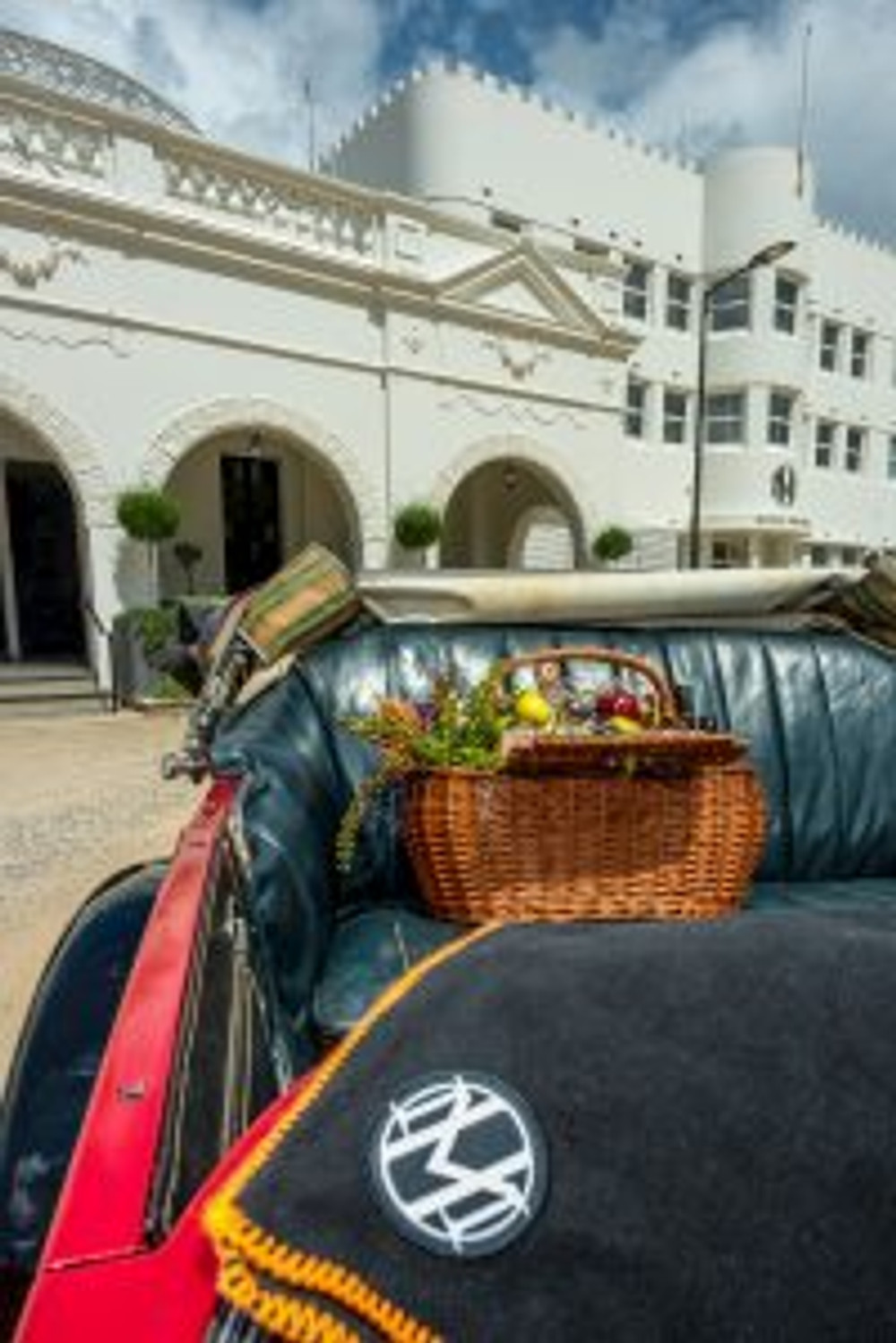 Take a tour to the Hydro Majestic Hotel with Blue Mountains Vintage Cadillacs