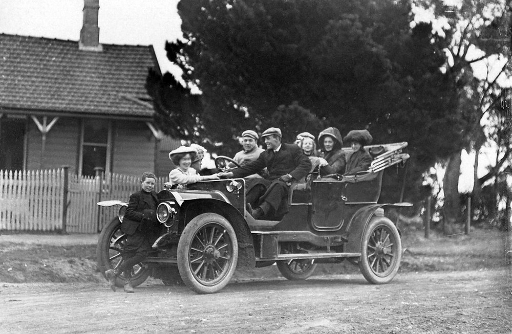 It is believed that Mark Foy imported the first motor car into NSW