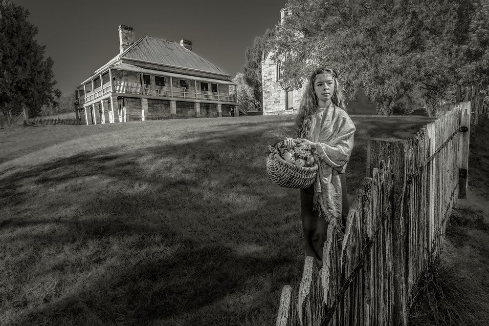 Alexa Burton from Lithgow Living History steps back in time at Hartley Historic Site.