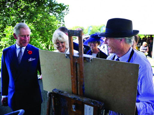 Second brush with royalty for Blue Mountains artist