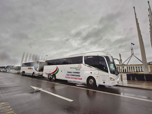 Family owned bus companies drive cause to Canberra
