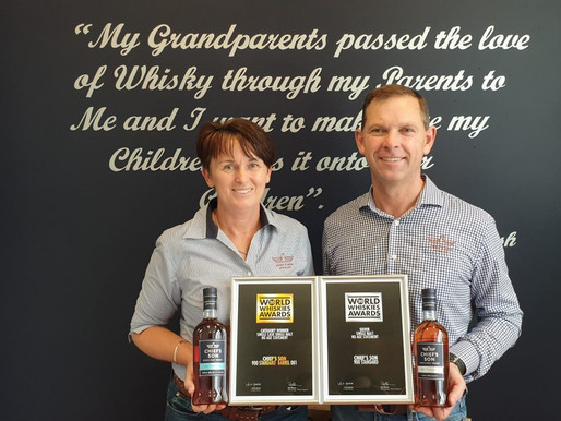 More gongs for Mornington Peninsula whisky newcomer – Chief's Son Distillery