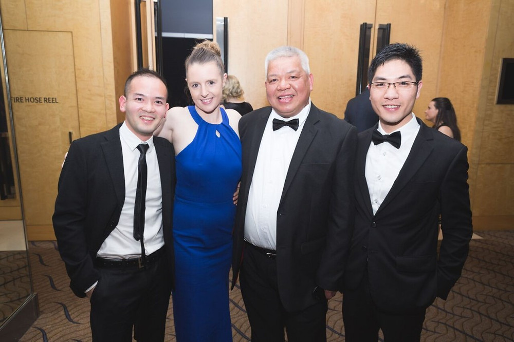 Winning team Escarpment Group members at the recent TAA awards