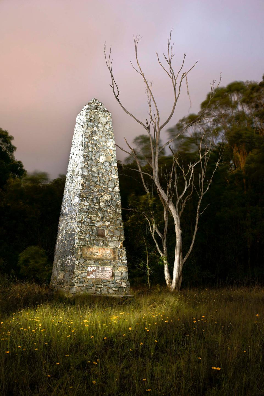 John Whitton Memorial obelisk near Knapsack Gully Viaduct.