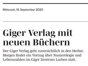 """Marchanzeiger - Bericht """"GIGER Verlag mit neuen Büchern"""""""