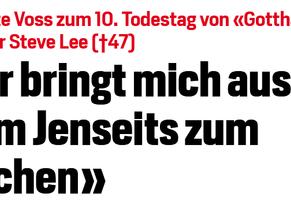 "Blick.ch - Brigitte Voss zum 10. Todestag von ""Gotthard""-Sänger Steve Lee"