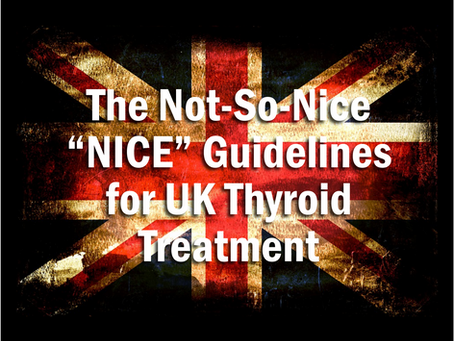 "Not-So-Nice ""NICE"" Guidelines Released in the UK"