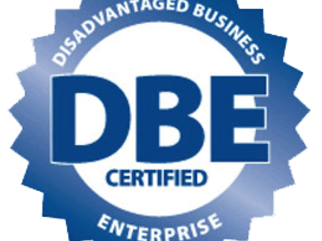 We are now DBE Certified.