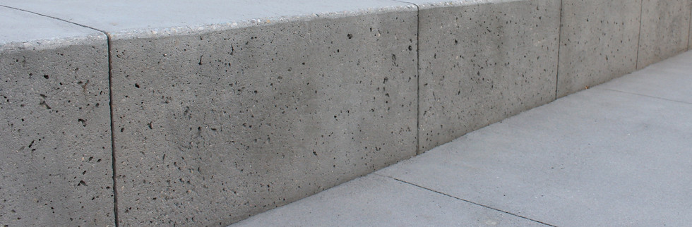 Sandblasted concrete.