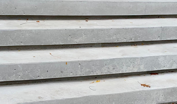Close up of modern steps.