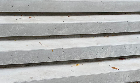Close up of modern steps.