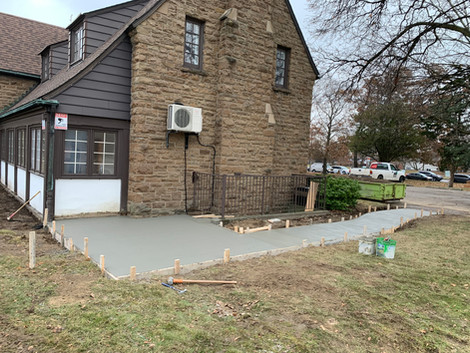 Small deck for church.
