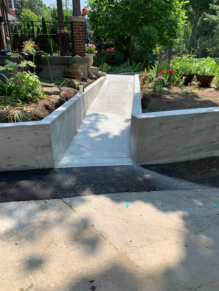 Ramp for possible wheelchair.