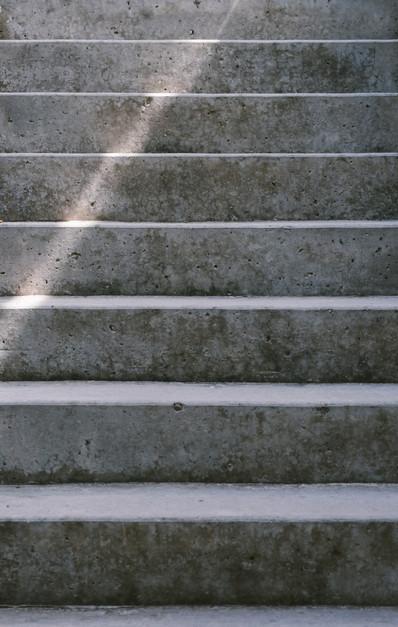 Rustic steps.