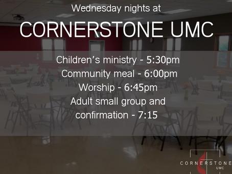Wednesday Night Ministry @ Cornerstone UMC