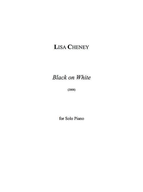 Black on White (Solo Piano)