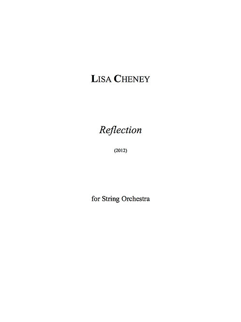 Reflection (String Orchestra) - Full Score