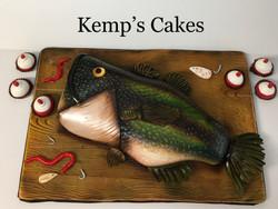 Bass Fish Grooms Cake