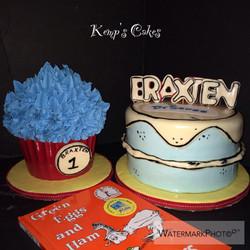 Dr. Seuss Birthday Cake
