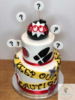 Spy Birthday Cake