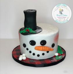 Snow Man Cake