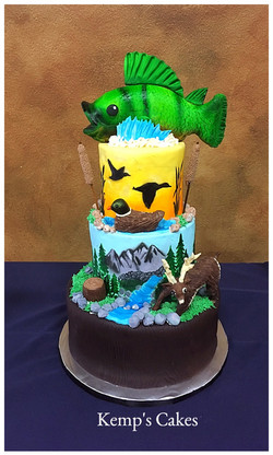 Hunting Grooms Cake