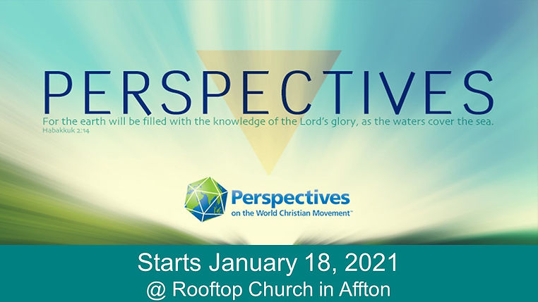 SLIDE - Perspectives Course starts 1-18-