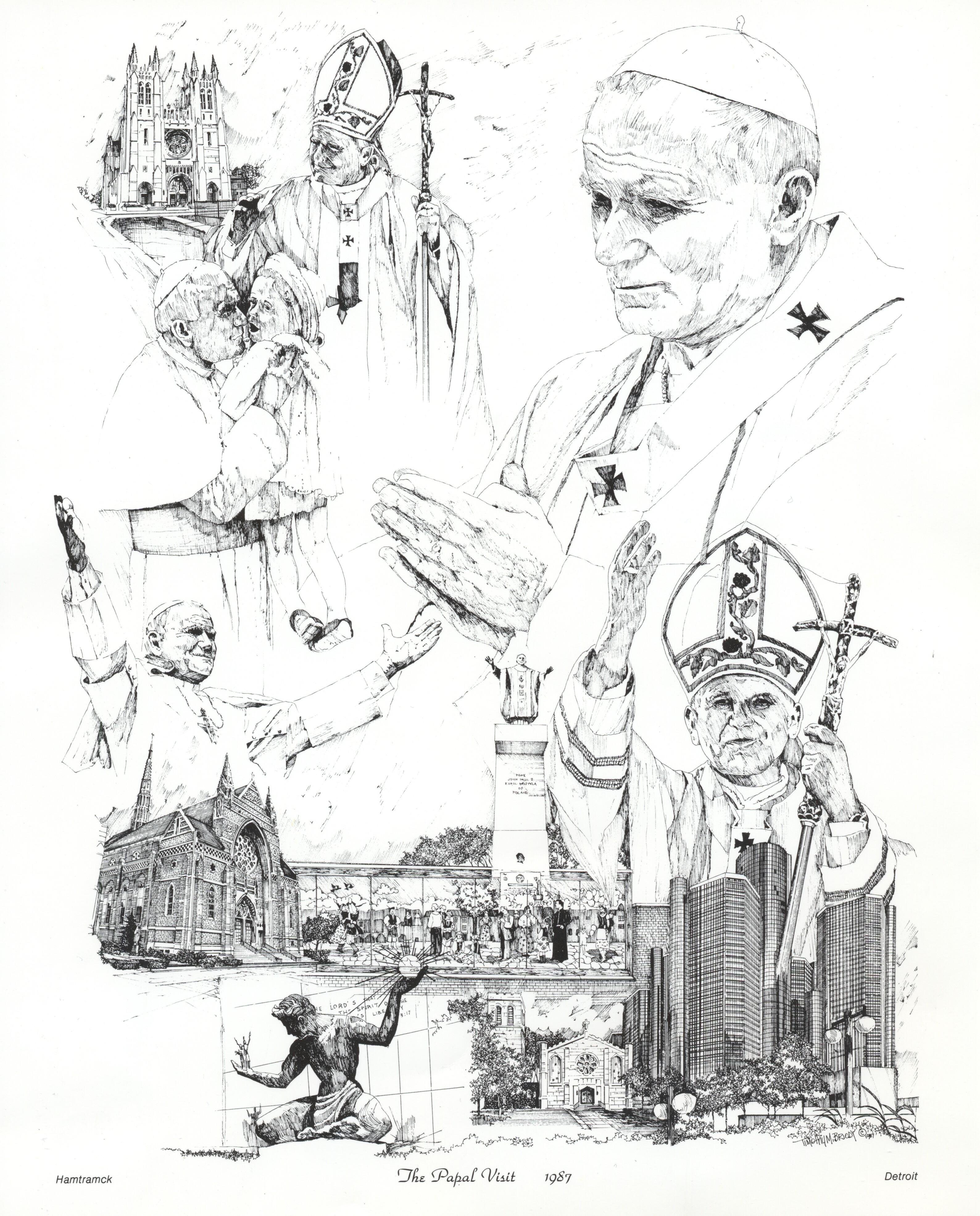 Pope John Paul II Detroit Visit