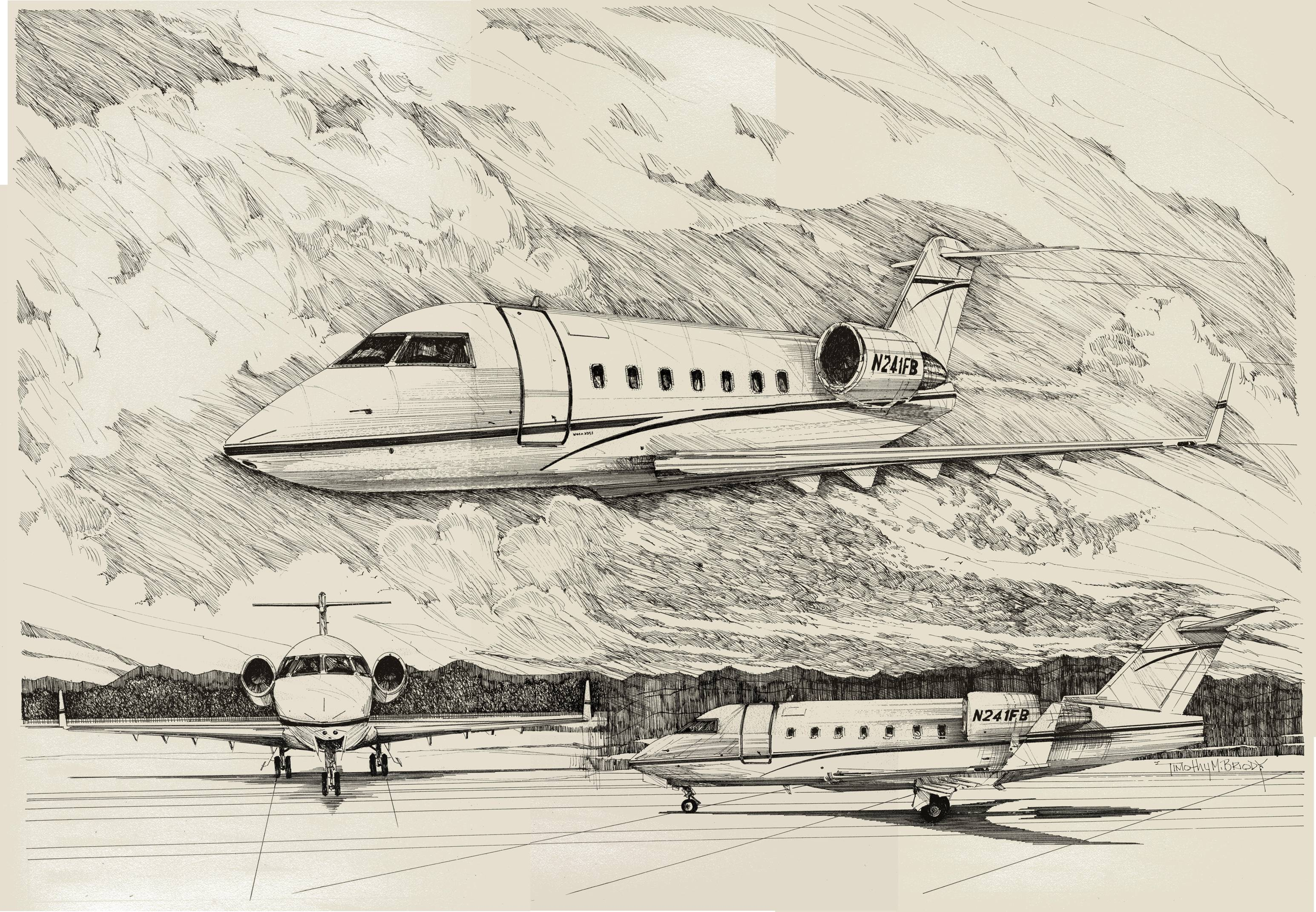 Private Jet and great transportation