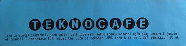 Teknocafe, 1996