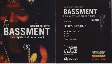 Bassment, 1997