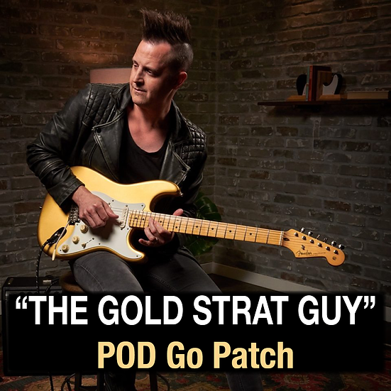 "Lincoln Brewster // ""The Gold Strat Guy"" POD Go Patch"