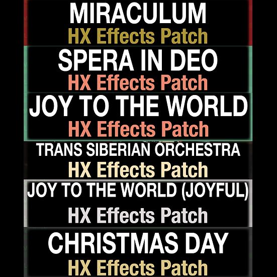 Christmas Bundle // HX Effects Patch Bundle // 6 Patches