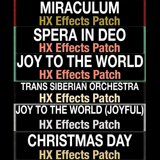 Christmas Bundle // HX Effects Patch Bundle // 6 Patches