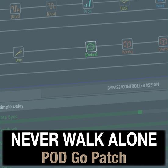 Never Walk Alone // Hillsong Worship // POD Go Patch