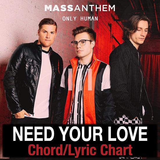 Need Your Love Mass Anthem - Chord/Lyric Chart
