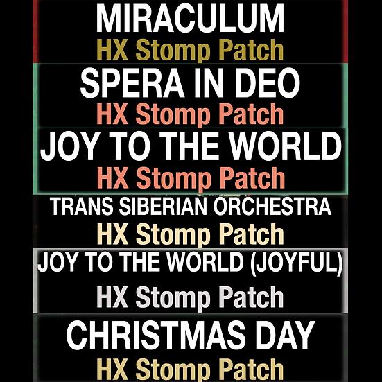 Christmas Bundle // HX Stomp Patch Bundle // 6 Patches