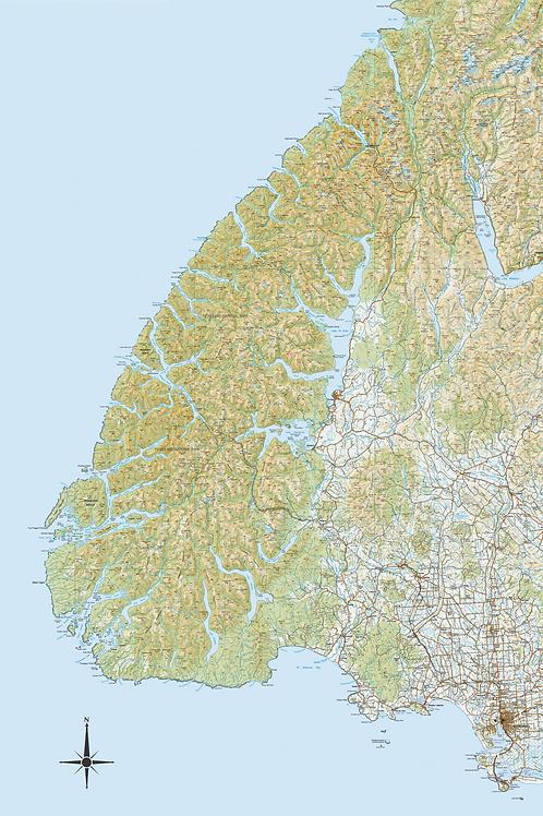 Fiordland Topo Map
