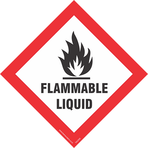 Hazard Diamond Signs - Adhesive