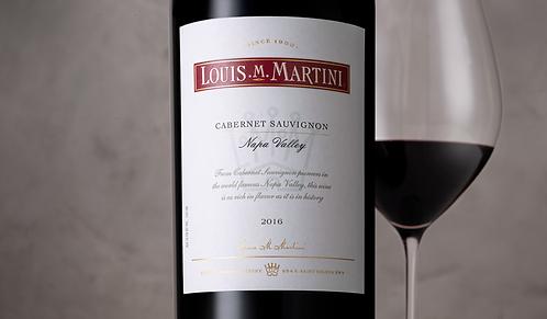 Louis Martini, Cabernet Sauvignon, Napa Valley, 2016 - 6 x bottles in wooden box