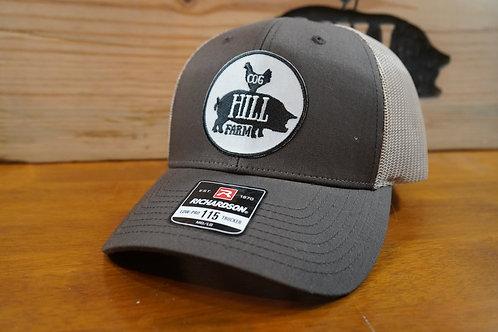 Cog Hill Low-Profile Snapback Trucker Hat (Brown & Khaki)