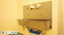 MEDIASEPT 2 SLU-HQ - lavoar chirurgical actionare cu senzor - cu doua posturi de lucru 2 - IQ WATER