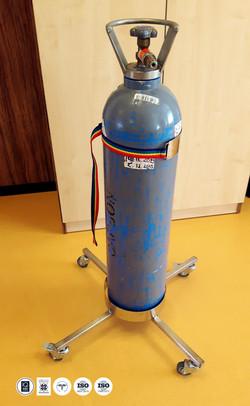 Suport mobil pentru butelie gaze medicale - IQ WATER MEDICAL