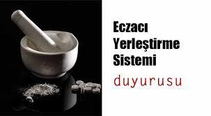 TİTCK:Eczacı Yerleştirme Sistemi (EYS) Duyurusu