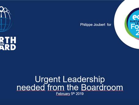 Keynote Address Slides from edie Sustainability Leaders Forum 2019