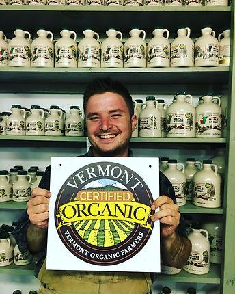 Jacob saying yes to Organic Mape Syrup!